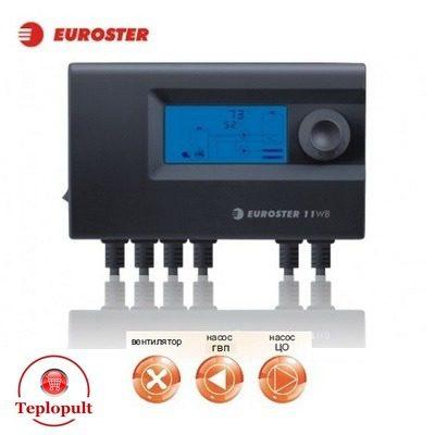 Контроллер EUROSTER 11WB [на 1 вент.+ насос ЦО и ГВС]