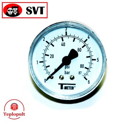 Манометр радиальный T-meter 0-6 bar