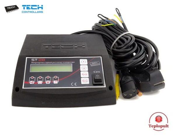 Контроллер TECH ST-28 SIGMA[на 1вент. +1насос ЦО и насос ГВС]