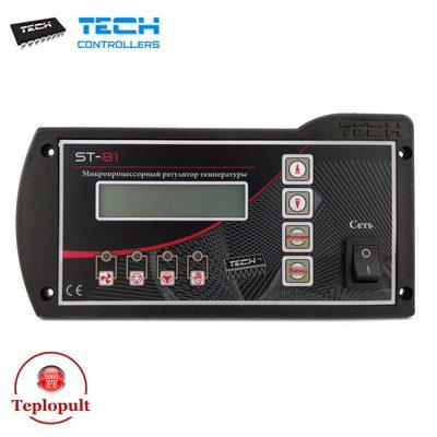 Контроллер TECH ST-81 Sigma [на 1 вент + 1 насос ЦО + 1 насос ГВС]