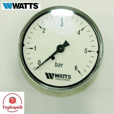 Манометр аксіальний WATTS F+R100, bar