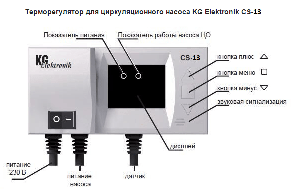 Контроллер KG Elektronik CS-13 [для 3-ходового клапана]