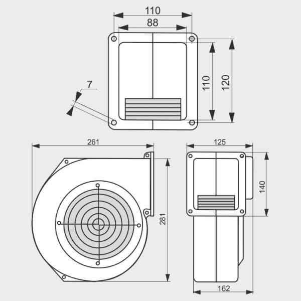 Вентилятор для котла G2E-180-EH03-01