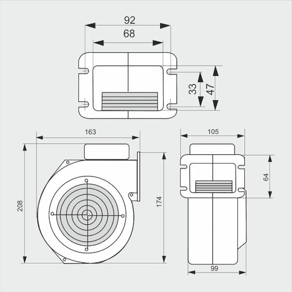 Вентилятор для котла WPA-07