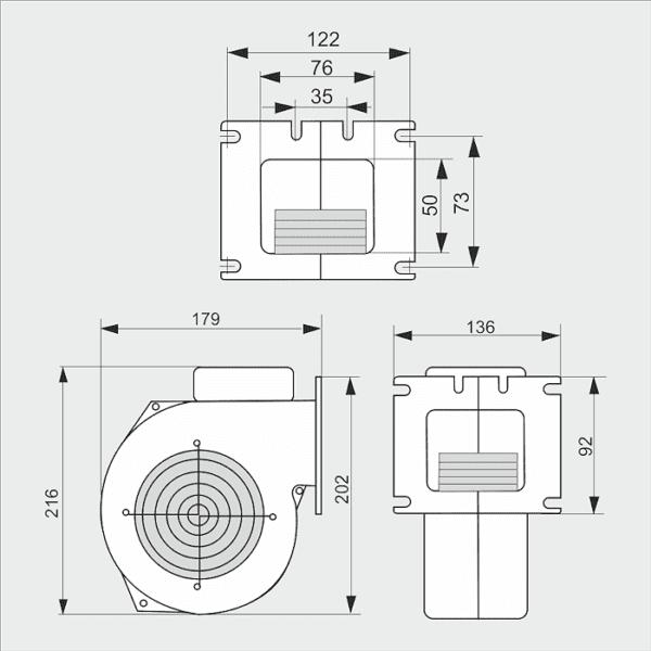 Вентилятор WPA-120 Q
