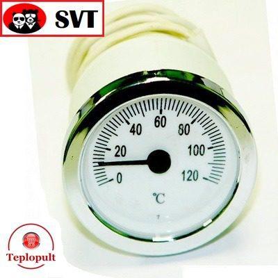 Термометр SVT52P LT144 хром, выносной датчик 1м