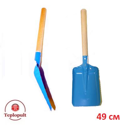 Лопата с деревянной ручкой, 49 см