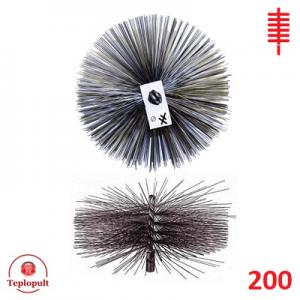 Щітка для чистки димоходу 200 сталь