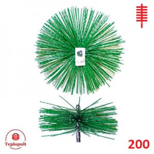 Щітка для чистки димоходу 200 пластик