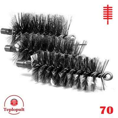 Щетка для чистки котла ∅ 70 мм (сталь)