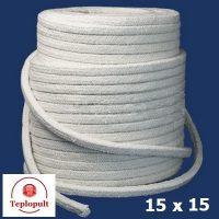 Шнур керамический, квадрат 15х15мм, до 1200 ° C
