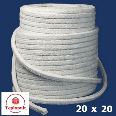 Шнур керамический, квадрат 20х20мм, до 1200 ° C