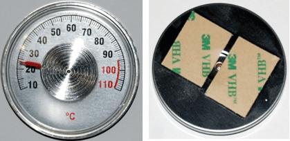 Термометр ТБ-04 (∅ 56 mm), градусник на клейкій основі