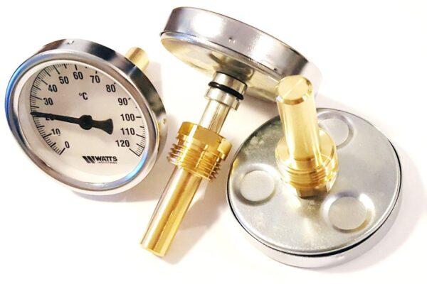 Термометр Watts 63/50 F+R801, аксіальний