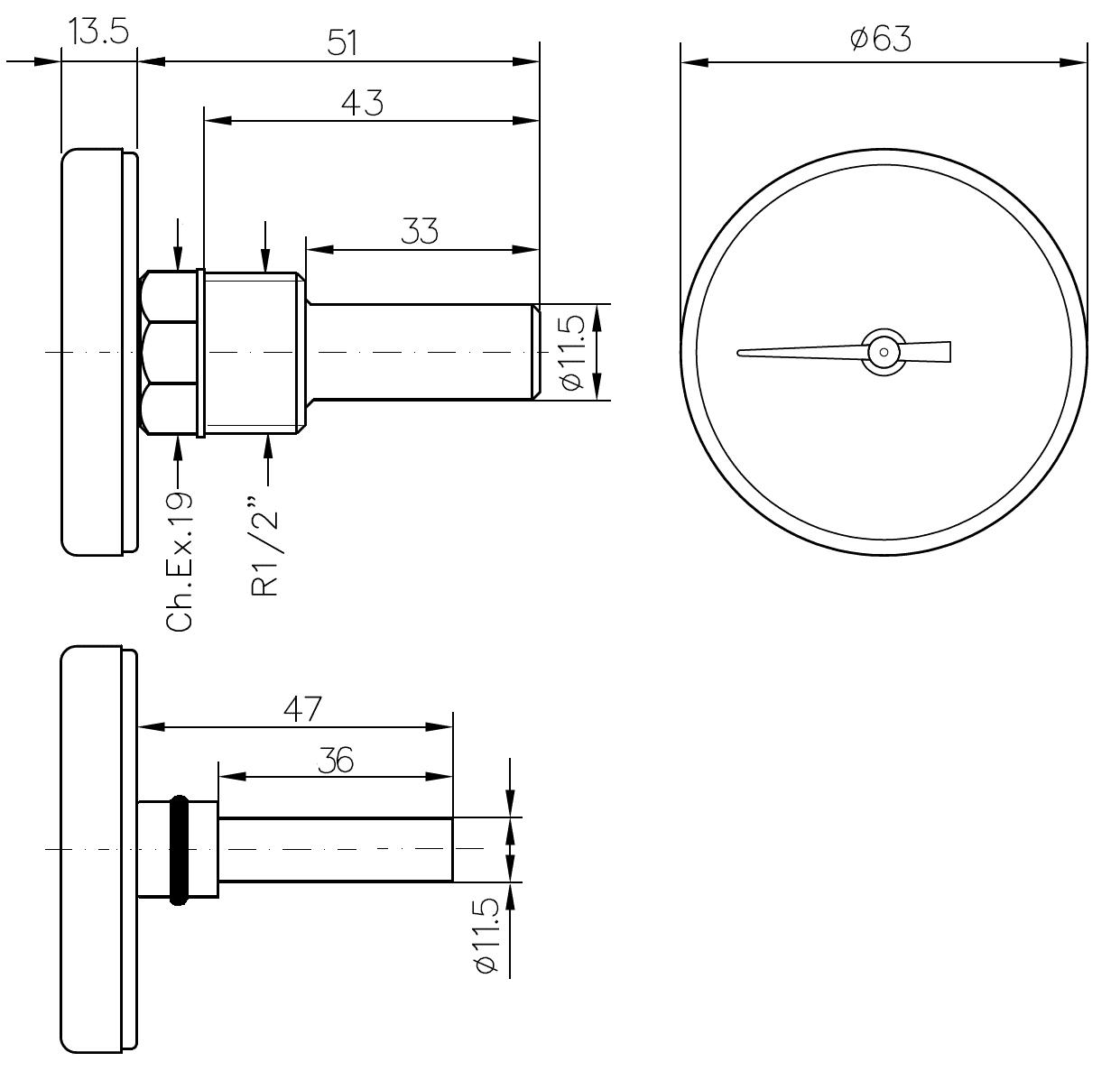 Термометр Watts