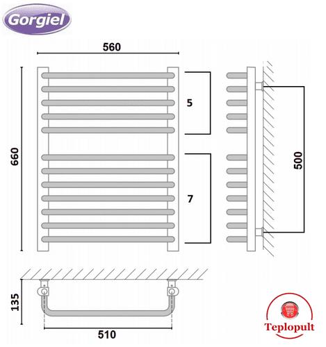 Сушка Gorgiel Europa AE – 66/56 – 12 ребер