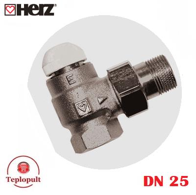 Клапан термостатический HERZ-TS-E DN25, угловой