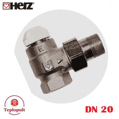 Термоклапан HERZ-TS-E DN20, кутовий