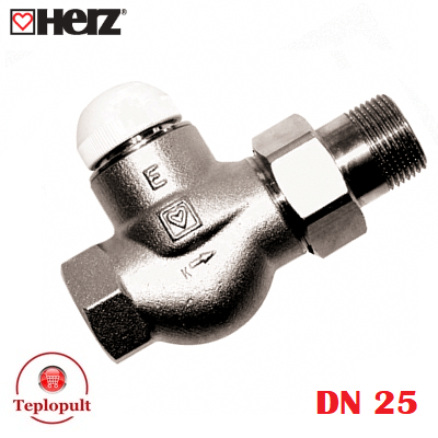 Клапан термостатический HERZ-TS-E DN25, прямой
