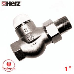 """Термоклапан HERZ-TS-E DN25 1"""", прямий"""