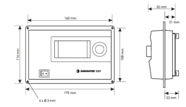 Контролер EUROSTER 12P (недельный, 2нас.,вент,шнек)