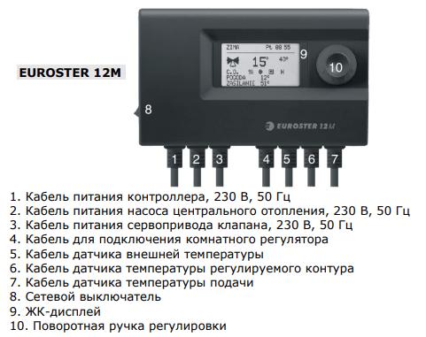 Контролер EUROSTER 12M погодозависимый