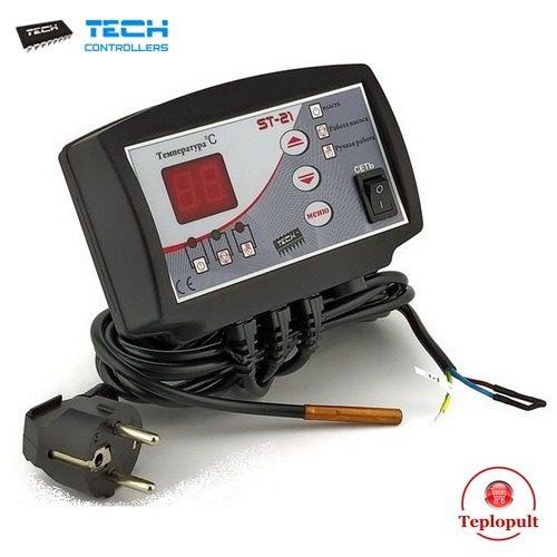 Контролер TECH ST-21 (для управления 1 насосом ЦО)