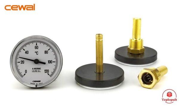 Термометр CEWAL PST 63P, с погружной гильзой
