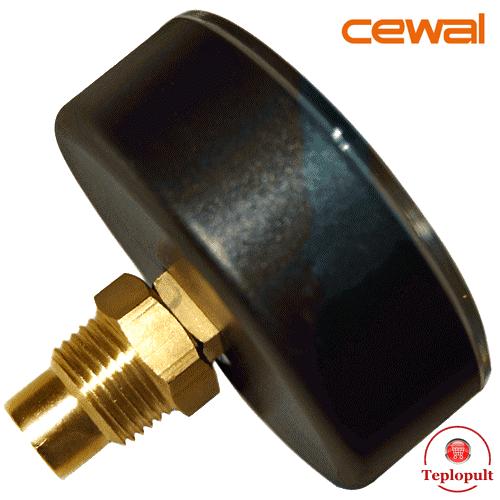 Термоманометр аксіальний Cewal TRP 80 VI (6Bar, 120°C)