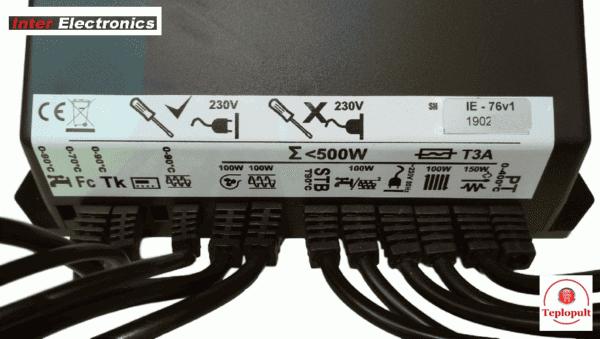 Контролер Inter Electronics IE-76v1 [на 1 вент+3моторред…]