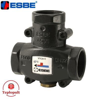 Трехходовой смесительный клапан Esbe VTC 511 60°С DN25 1″ (арт.51020300)